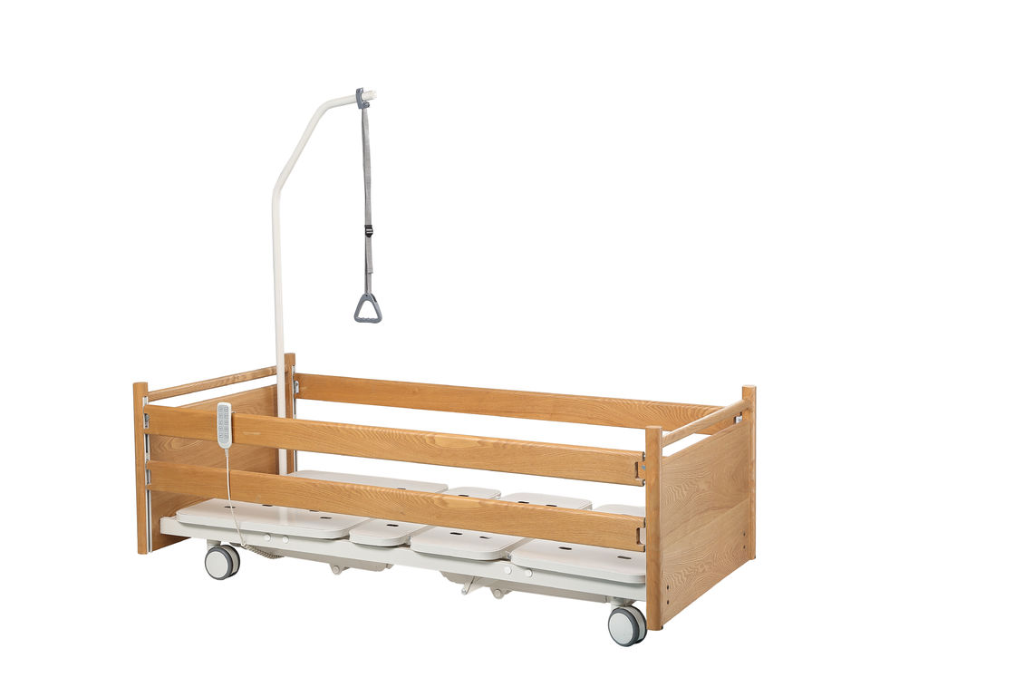 Adjustable Home Care Adjustable Beds , Elderly Medical Supplies Hospital With Wheels